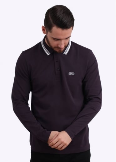 Hugo Boss Green Plisy Polo Shirt - Oxblood