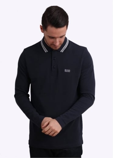 Hugo Boss Green Plisy Polo Shirt - Navy