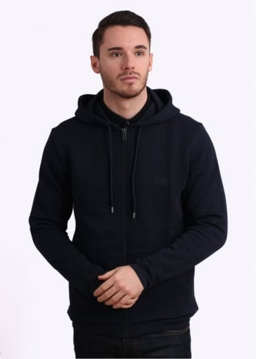 Hugo Boss Green Hooded Jacket - Dark Navy