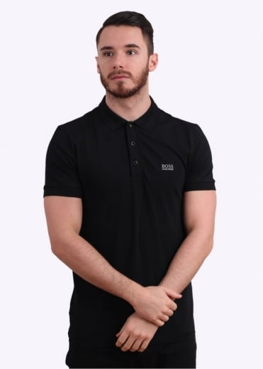 Hugo Boss Green Paule Polo Shirt - Black