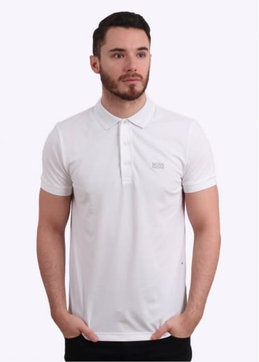 Hugo Boss Green Paule Polo Shirt - White