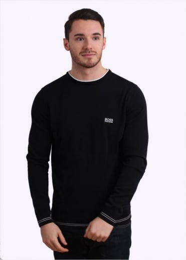 Hugo Boss Green Rime Jumper - Black