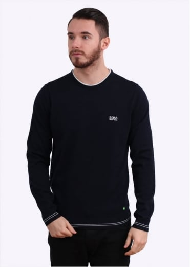 Hugo Boss Green Rime Jumper - Navy