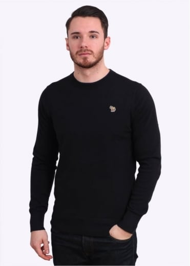 Paul Smith Jeans Trim Crew Knit Sweater - Black