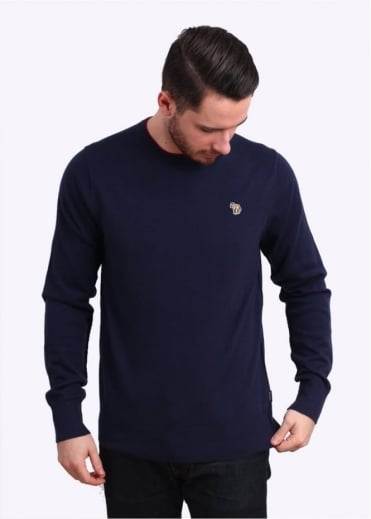 Paul Smith Jeans Trim Crew Knit Sweater - Inidigo