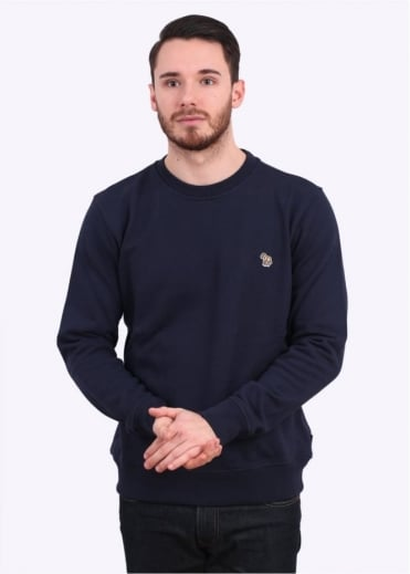 Paul Smith Jeans Zebra Crew Sweater - Navy