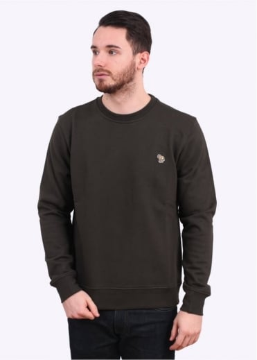 Paul Smith Jeans Zebra Crew Sweater - Olive