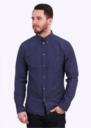 Paul Smith Jeans Long Sleeve Tailored Fit Shirt - Navy