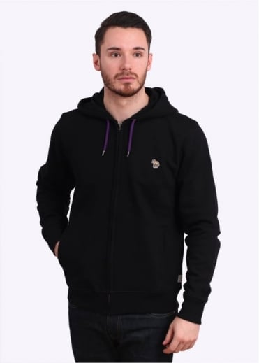 Paul Smith Jeans Zip Front Hoody - Black