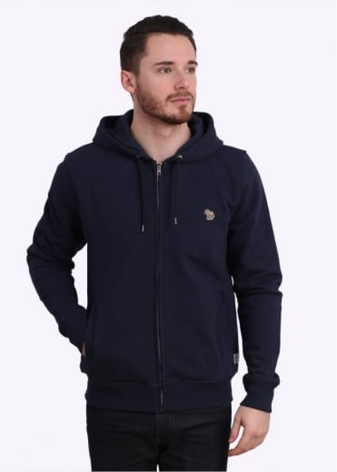 Paul Smith Jeans Zip Front Hoody - Navy