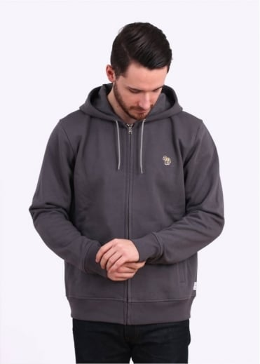 Paul Smith Jeans Zip Front Hoody - Grey