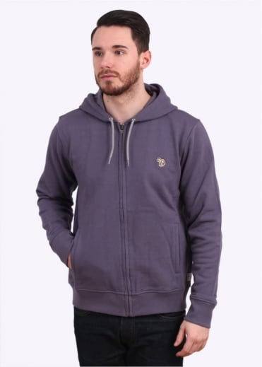 Paul Smith Jeans Zip Front Hoody - Light Purple