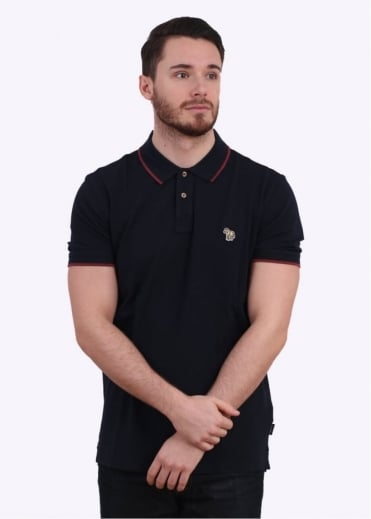 Paul Smith Jeans Trim Collar Polo Shirt - Navy