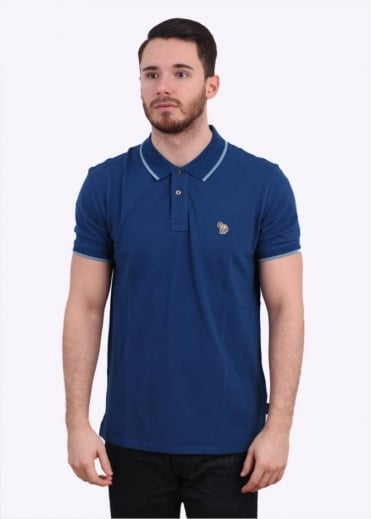 Paul Smith Jeans Trim Collar Polo Shirt - Blue