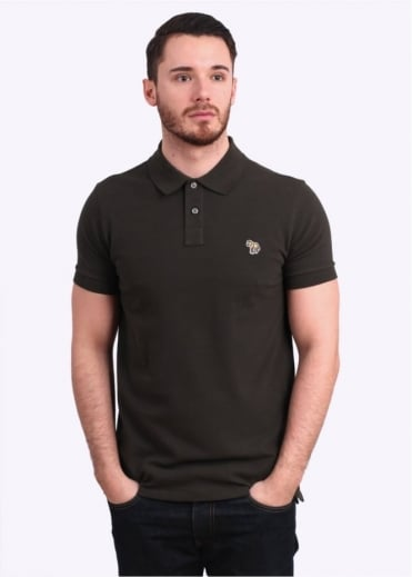 Paul Smith Jeans Short Sleeve Zebra Polo Shirt - Olive