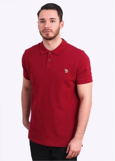 Paul Smith Jeans Short Sleeve Zebra Polo Shirt - Dark Red