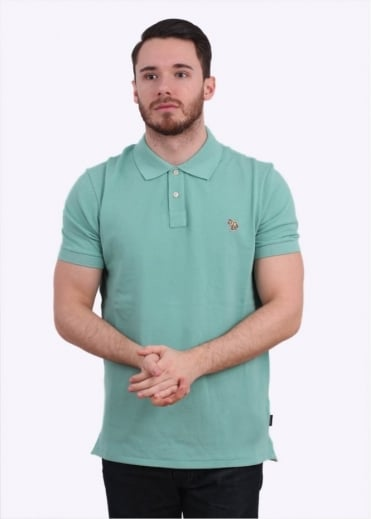 Paul Smith Jeans Short Sleeve Zebra Polo Shirt - Pastel Green