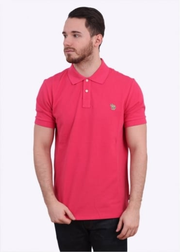 Paul Smith Jeans Short Sleeve Zebra Polo Shirt - Pink