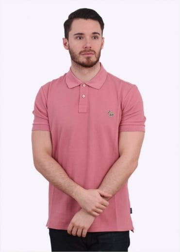 Paul Smith Jeans Short Sleeve Zebra Polo Shirt - Pastel Pink