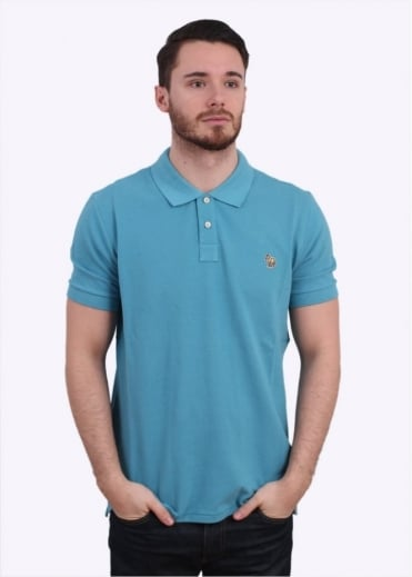 Paul Smith Jeans Short Sleeve Zebra Polo Shirt - Sky Blue