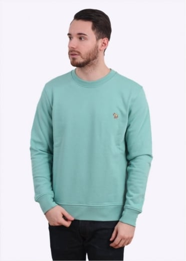 Paul Smith Jeans Long Sleeve Sweatshirt - Pastel Green