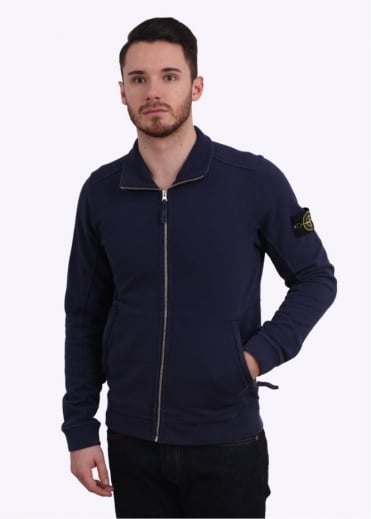 Stone Island Zip Track Top - Royal Blue