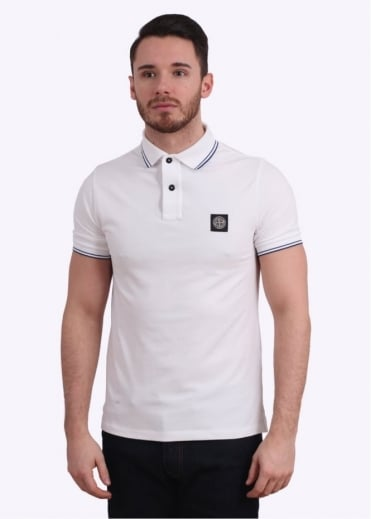 Stone Island Polo Shirt - White / Blue