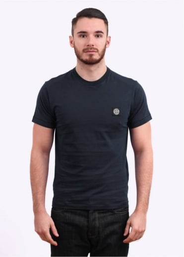 Stone Island Badge Tee - Navy