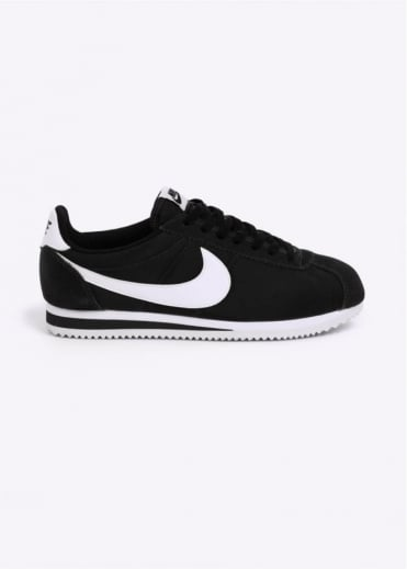 Nike Footwear Classic Cortez Nylon Trainers - Black / White