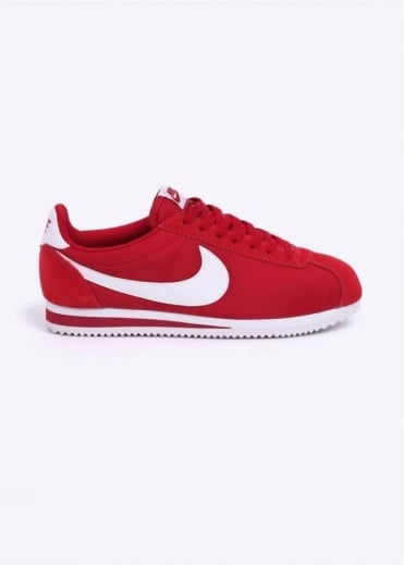 Nike Footwear Classic Cortez Nylon Trainers - Gym Red