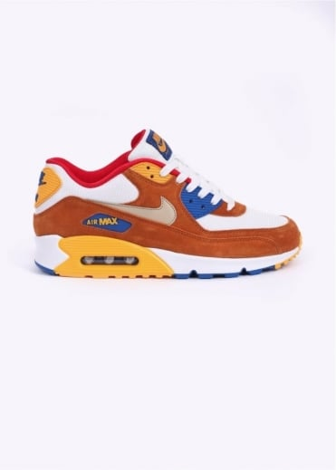 Nike Footwear Air Max 90 PRM Premium Trainers - White / Brown