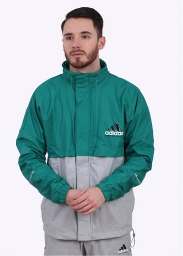 Adidas Originals Apparel EQT OG Windbreaker - Green / Stone