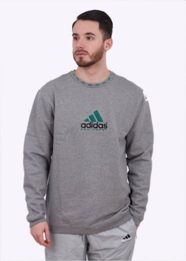 Adidas Originals Apparel EQT Crew Sweatshirt - Core Heather