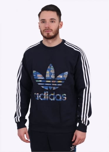 Adidas Originals Apparel Trefoil Crew Sweatshirt - Ink