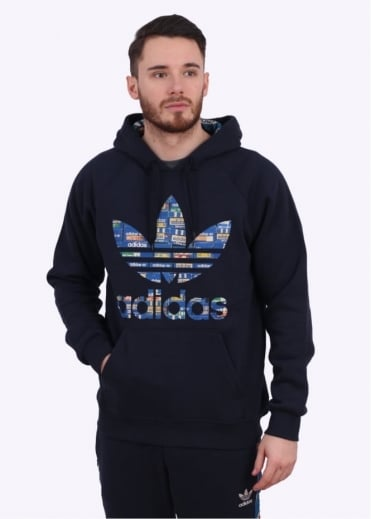 Adidas Originals Apparel Adi Trefoil Hoody - Ink