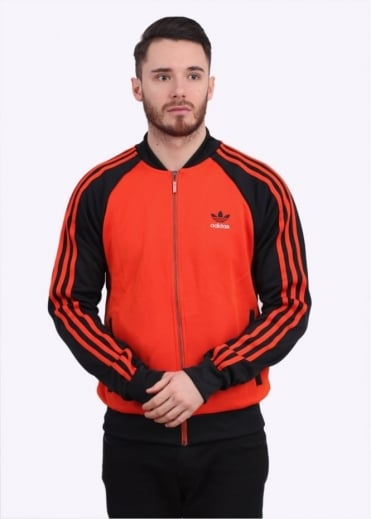 Adidas Originals Apparel SST Track Top - Orange