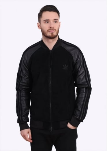 Adidas Originals Apparel Lux SST Leather Jacket - Black