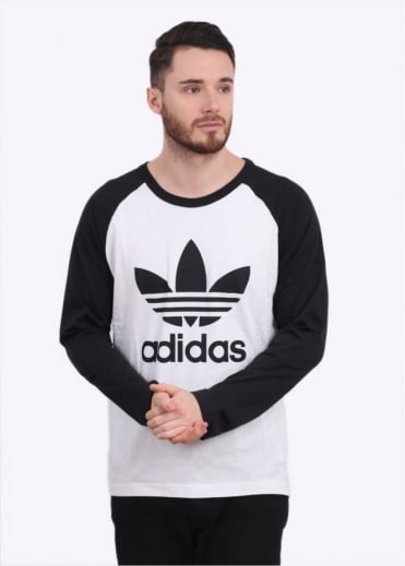 Adidas Originals Apparel Adi Trefoil Long Sleeve Tee - White / Black
