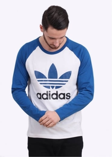 Adidas Originals Apparel Adi Trefoil Long Sleeve Tee - White