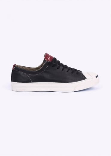 Converse Jack Purcell Ox Tumbled Leather - Black / White