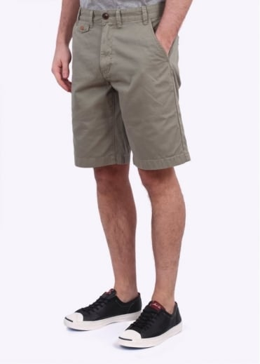 Barbour Neuston Twill Shorts - Olive