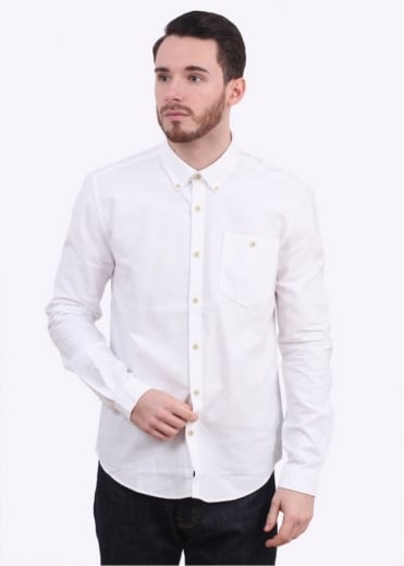 Barbour Charles Oxford Shirt - White