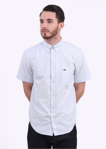 Lacoste Short Sleeve Woven Shirt - Atmosphere