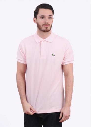 Lacoste Short Sleeve Best Fit Polo Shirt - Flamingo