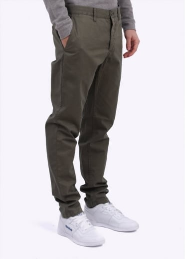 Norse Projects Aros Slim Light Twill Pants - Dark Olive