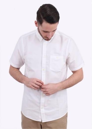 Norse Projects Anton Oxford Short Sleeve Shirt - White