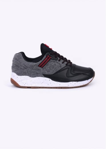 "Saucony Grid 9000 ""Letterman"" Trainers - Black / Grey"