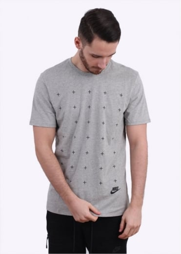 Nike Apparel Matte Silicon Futura Tee - Grey