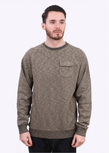 North Face LS Pocket Crew Sweater - Mountain Moss