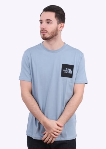 The North Face SS Fine Tee - Faded Denim Blue